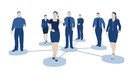 Business Netzwerk - Vernetzung und Teamwork