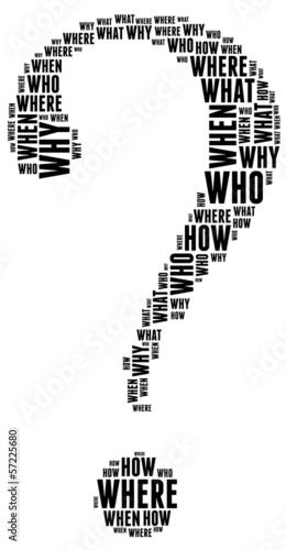 Question word collage concept