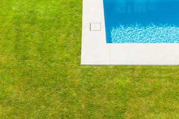 Modern villa, outdoor,  detail swimming pool