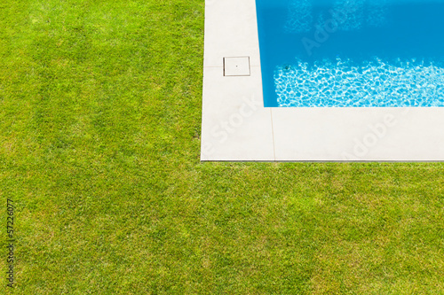 Modern villa, outdoor,  detail swimming pool