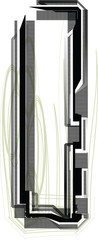 technological font. LETTER I