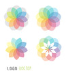 Abstract colorful flower logo