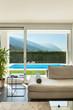 canvas print picture - Modern villa, interior, detail living room