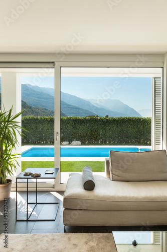 canvas print picture Modern villa, interior, detail living room