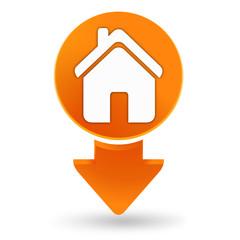 maison sur signet orange