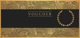 Voucher, Gift certificate, Coupon. Black filigree pattern poster