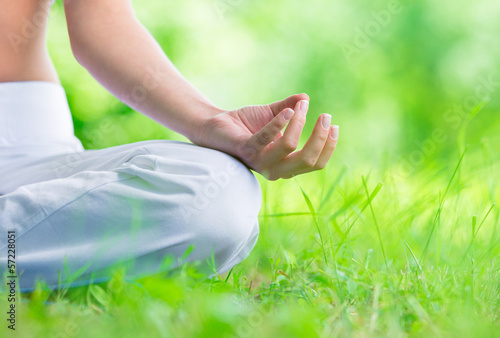 Close up of female hand zen gesturing