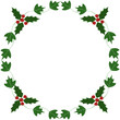 Holly and ivy yule frame
