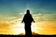 Leinwandbild Motiv Jesus st sunset