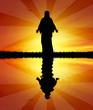 Jesus at sunset