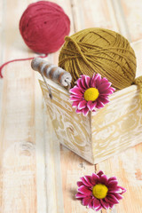 Wool clew for knitting