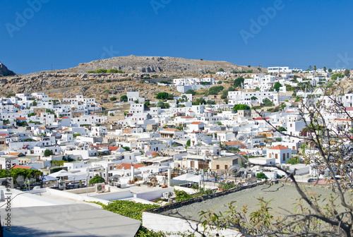 Panorama of Lindos village