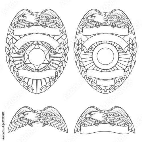 Police department badges and design elements - 57229417