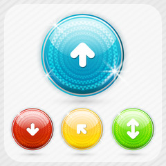 Color buttons with white arrow symbol.