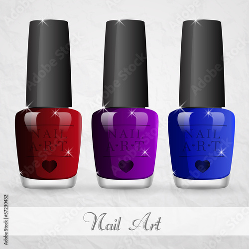 The vector image of nail polish