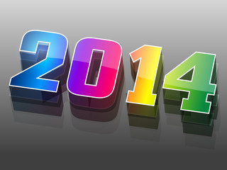 3d new year background