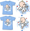 kid shirt with cute angel printed
