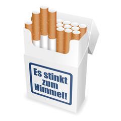 zigarettenschachtel es stinkt zum himmel! I