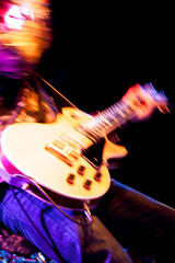 motion blur rock guitarist