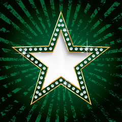 green star on rays