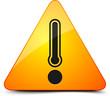 Danger temperature sign