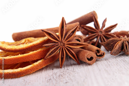 star anise sith orange and cinnamon