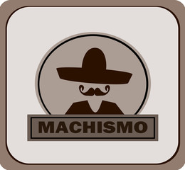 machismo poster with man wearing sombrero