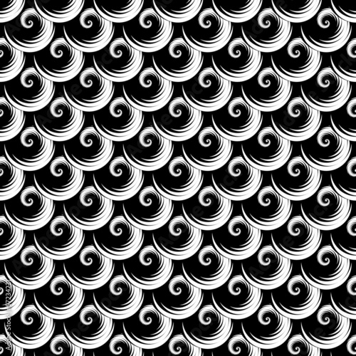 Seamless texture. Pattern with spiral elements.