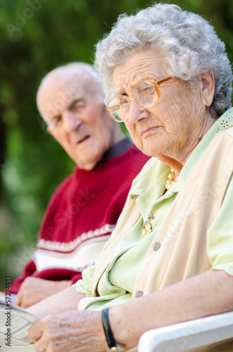 Portrait of a Senior couple in the park
