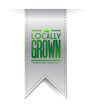 locally grown grey banner illustration design