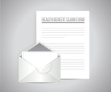 health medical claim form document papers