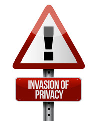 invasion of privacy road sign illustration design