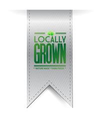 locally grown grey banner illustration design