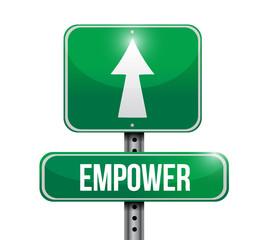 empower road sign illustration design