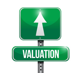 valuation road sign illustration design