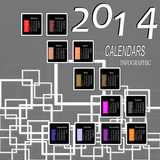Creative Happy New Year 2014. Infographic Calendars