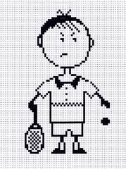Tennis boy , pixel ART