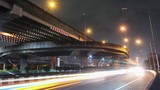 Traffic at night timelapse