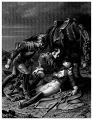 Napoleonian Wars - Dying Hero - 19th century
