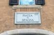 Roma, targa, piazza di Spagna