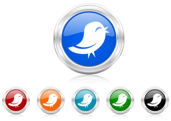 twitter icon vector set