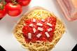 pasta, spaghetti all'amatriciana