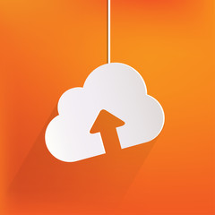 Cloud upload application web icon