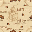 Seamless pattern with coffee  illustrations