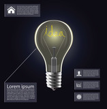 Idea light bulb infogrphics