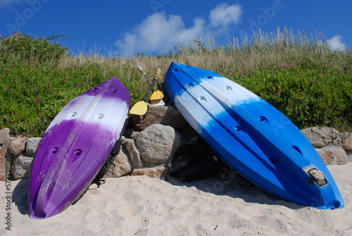 Kayaks, Scilly Isles, UK