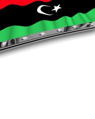 Designelement Flagge Libyen
