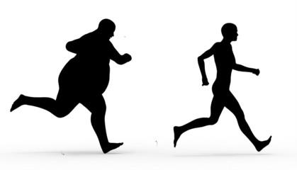 Siluetas Hombres Corriendo
