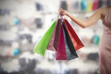 Woman holding shopping bags