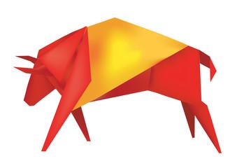 Spanish Origami Bull